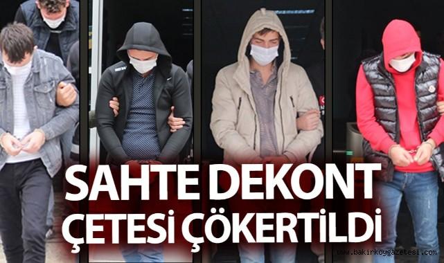 İNTERNET'TE EŞYA SATANLARI ,SAHTE DEKONTLA DOLANDIRAN ÇETE YAKALANDI..